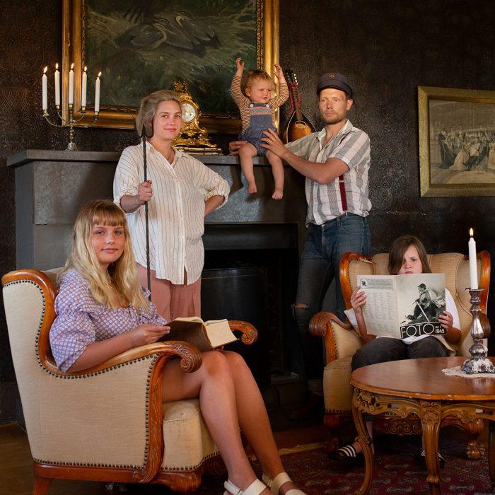 Nils Hector med familj